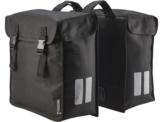 Basil Mara Doppel-Gepäckträgertasche XXL 47l schwarz